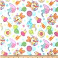 Fleece Prints Animals White