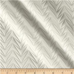 Embossed Double Knit Chevron True Ivory
