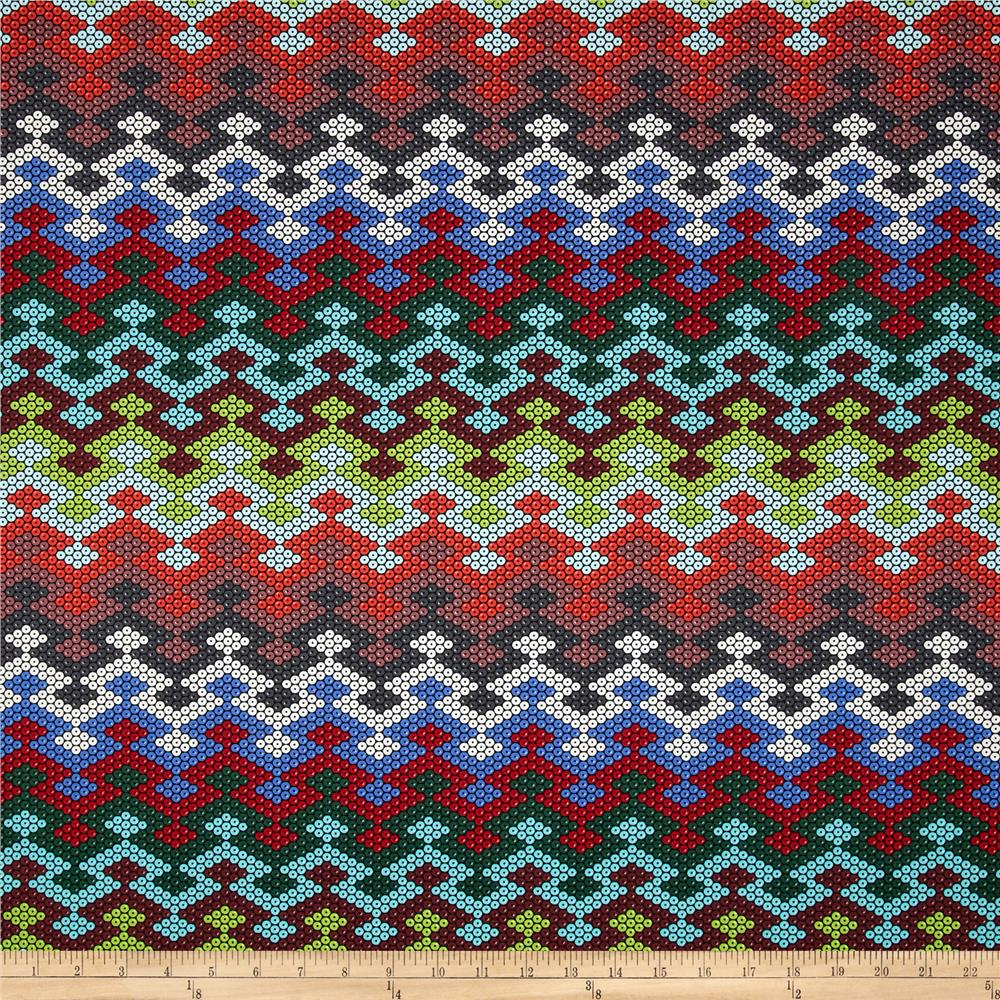 Michael Miller Beadwork Blanket Chevron Multi