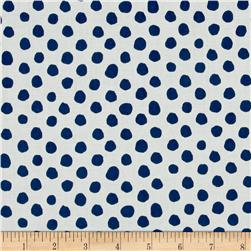 Contempo Palm Springs Dot All Over Navy