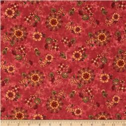 Buggy Barn Flannel Essentials 7 Folksy Floral Red