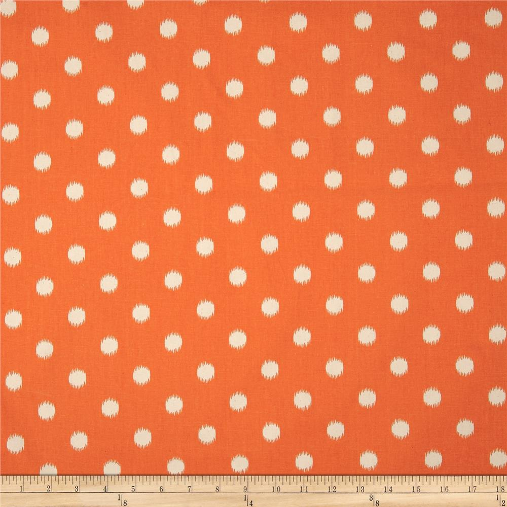 Premier Prints Ikat Dots Gumdrop Orange