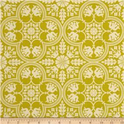 Joel Dewberry Notting Hill Historic Tile Citron Fabric