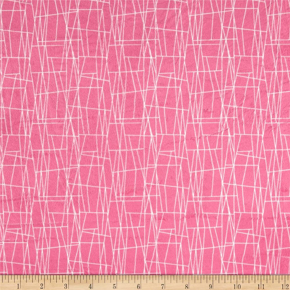 Michael Miller Minky Sassy Cats Web Pink