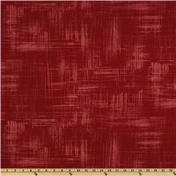 Michael Miller Edges Painters Canvas Maroon Fabric