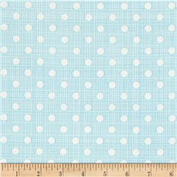 Moda Wing & Leaf Dotty Screen Periwinkle