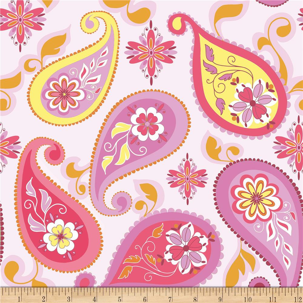 Riley Blake Splendor Large Paisley Pink