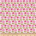 Riley Blake Summer Breeze Flannel Floral Pink
