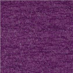Slub Heatherd Hatchi Knit Purple