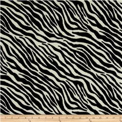 Flannel Animal Skins Zebra Black