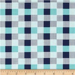 Moda Happy-Go-Lucky Check Aqua/Navy
