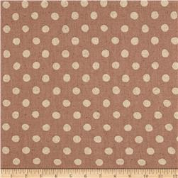 Kaufman Sevenberry Canvas Natural Dots Large Blush