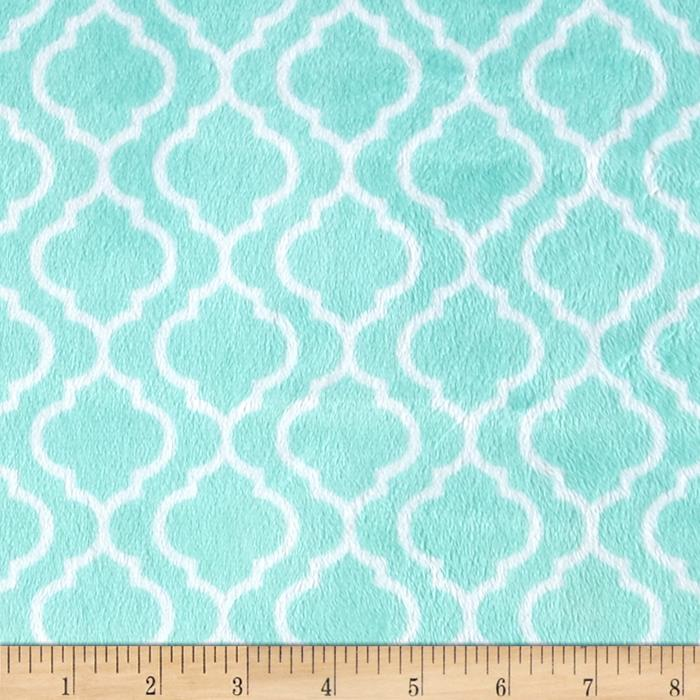 Trellis Fabric Interesting With Teal Minky Fabric Photo