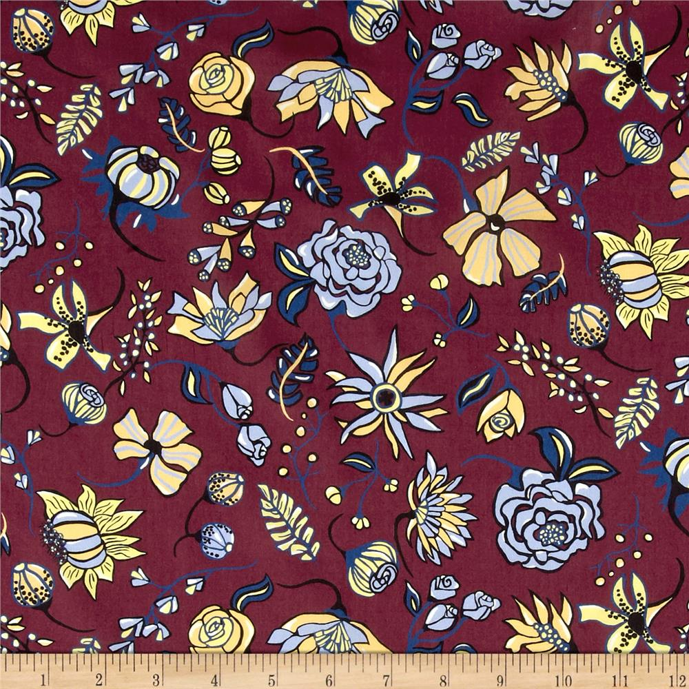 Liberty of London Tana Lawn Winter Floral Fuchsia/Blue/Yellow
