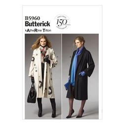 Butterick Misses' Coat Pattern B5960 Size 0Y0