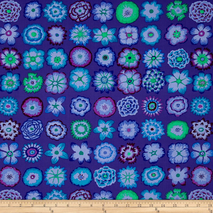 Kaffe Fassett Collective Button Flowers Purple Fabric By The Yard