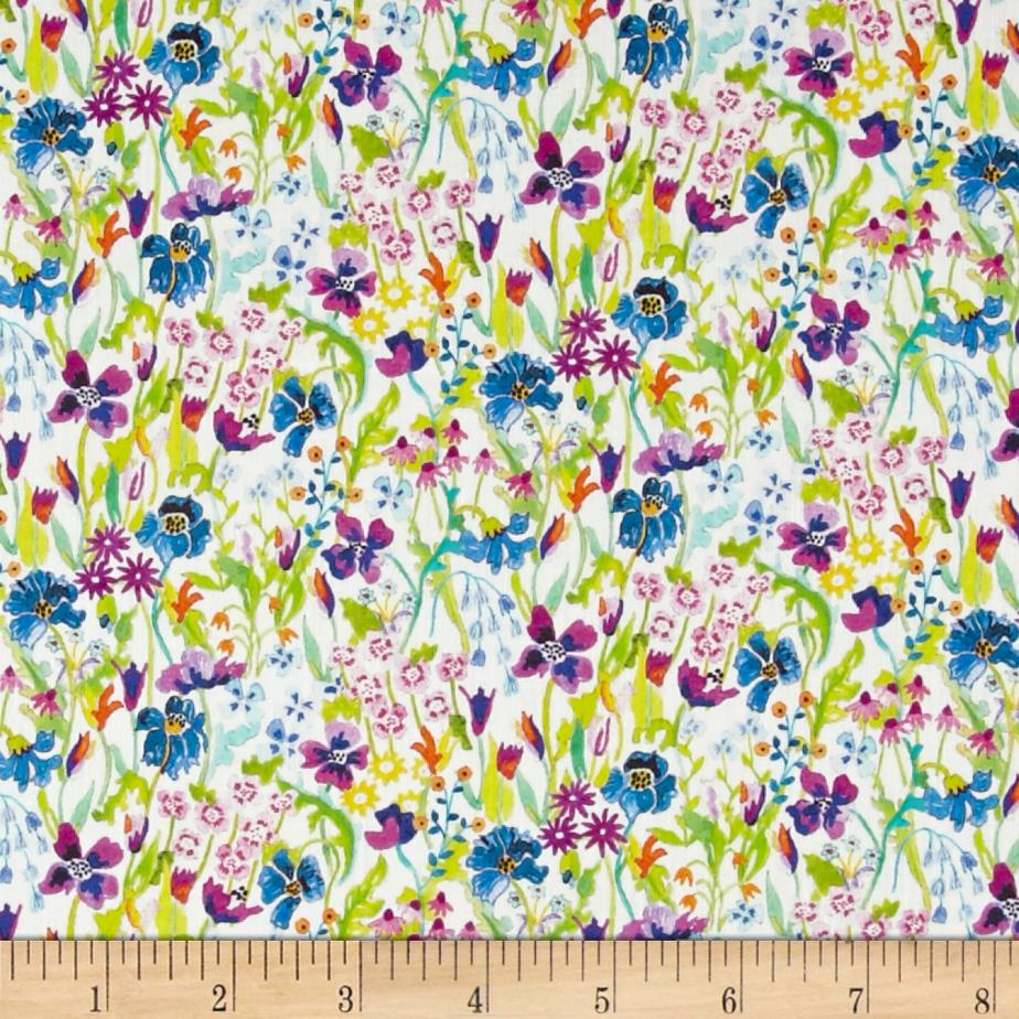 Liberty of London Tana Lawn Dufour Summer Posy Pink/Blue
