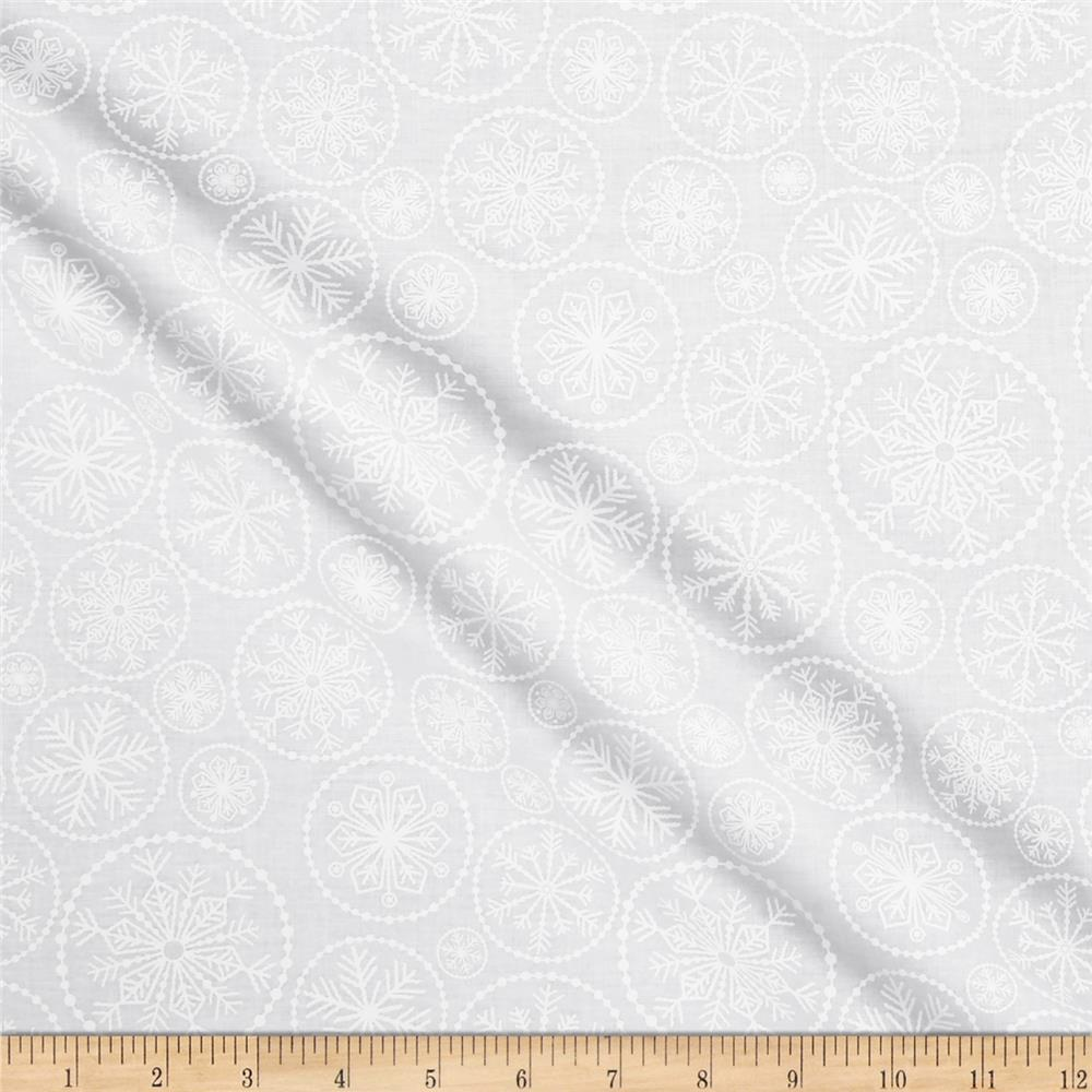 Winter Essential IV Large Snowflake Pigment White