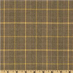 Yarn Dyed Plaid Suiting Tan/Gold