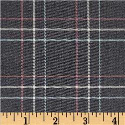 Yarn Dyed Plaid Suiting Grey/Multi