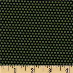 Sunshine Orchard Dots Black/Green