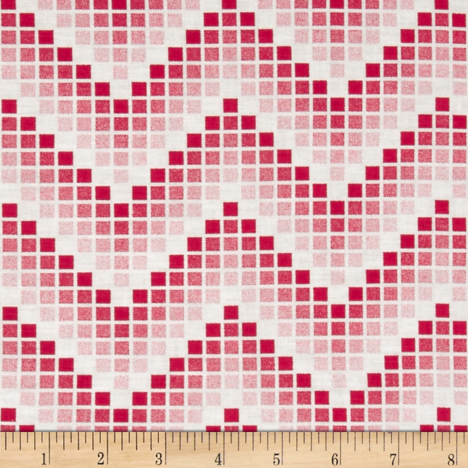 Mosaic Chevron Red Fabric by Santee in USA