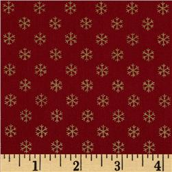 Christmas 2014 Metallic Coordinates Snowflake Red