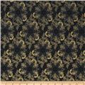 Pear Tree Greetings Metallic Snowflakes Black/Gold