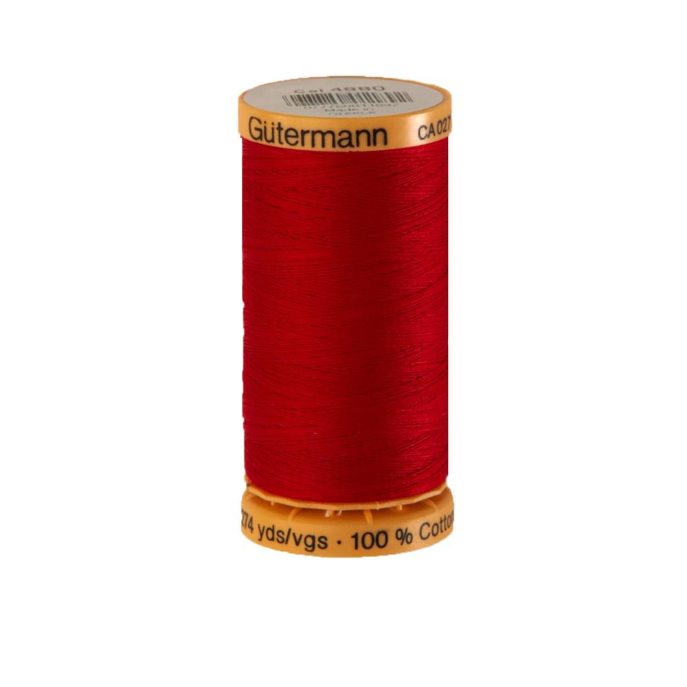 Gutermann Natural Cotton Thread 250m/273yds Red