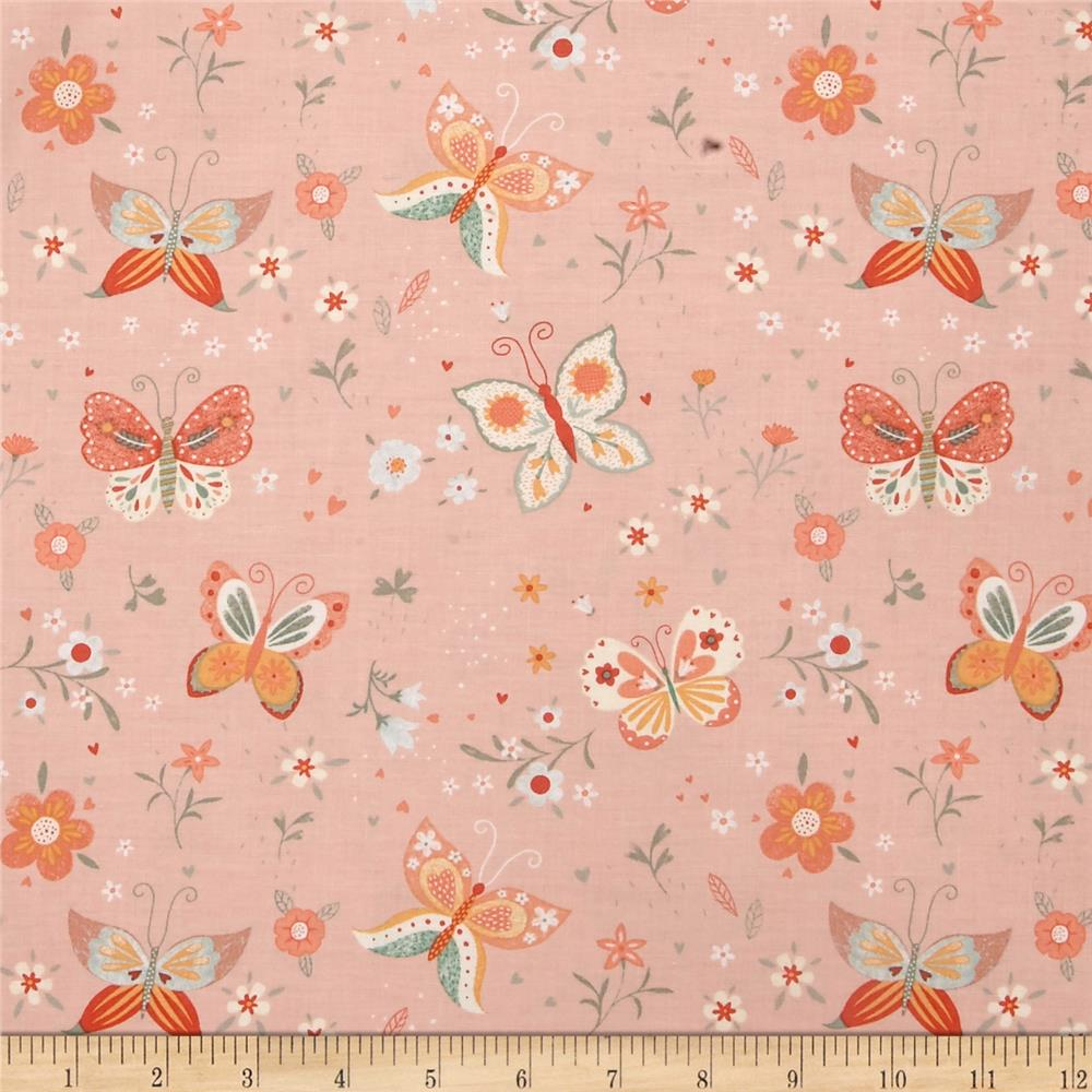 Bunny tales butterfly pink discount designer fabric for Fabric purchase