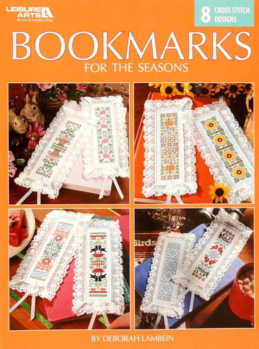 Leisure Arts ''Bookmarks for the Seasons'' Cross Stitch Booklet