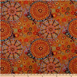 Kaffe Fassett Millefiore Brown Fabric