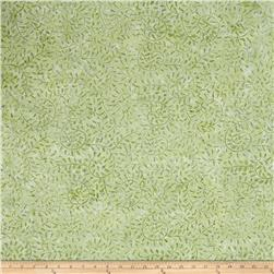 Batavian Batiks Curling Leaves Light Green