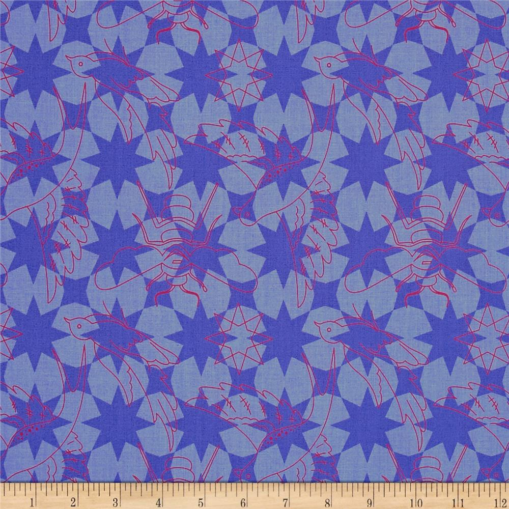 Alison Glass Seventy Six Flourish Periwinkle Purple