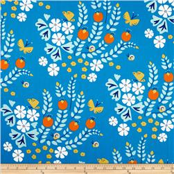 Lotus Pond Organic Floral Blue