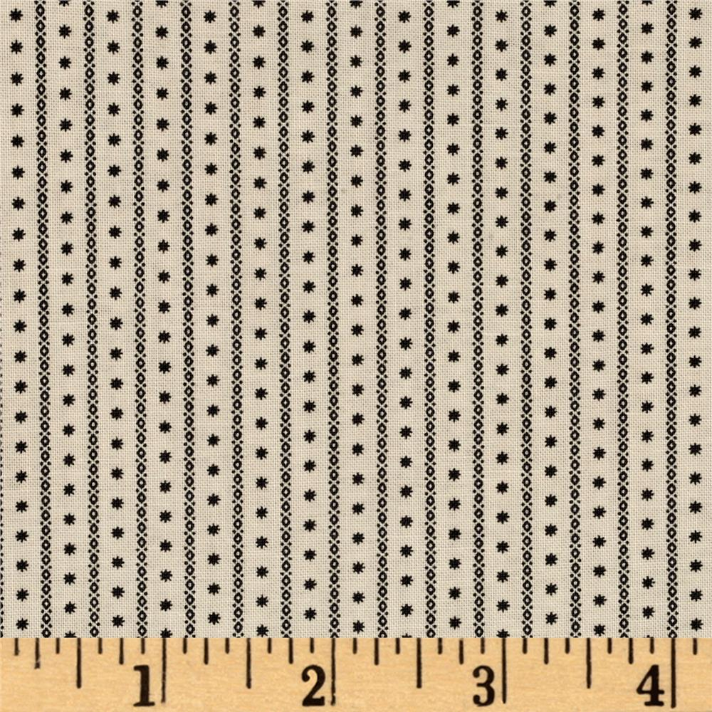 Windham Threads of Time Star Stripe  Cream