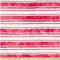 Onion Skin Striped Jersey Knit Coral Pink/White