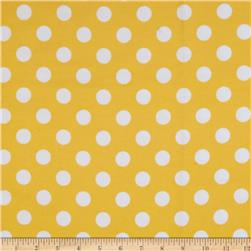 Riley Blake Medium Dots Flannel Yellow