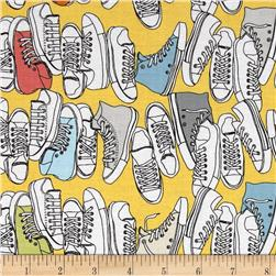 Riley Blake Geekly Chic Sneakers Yellow