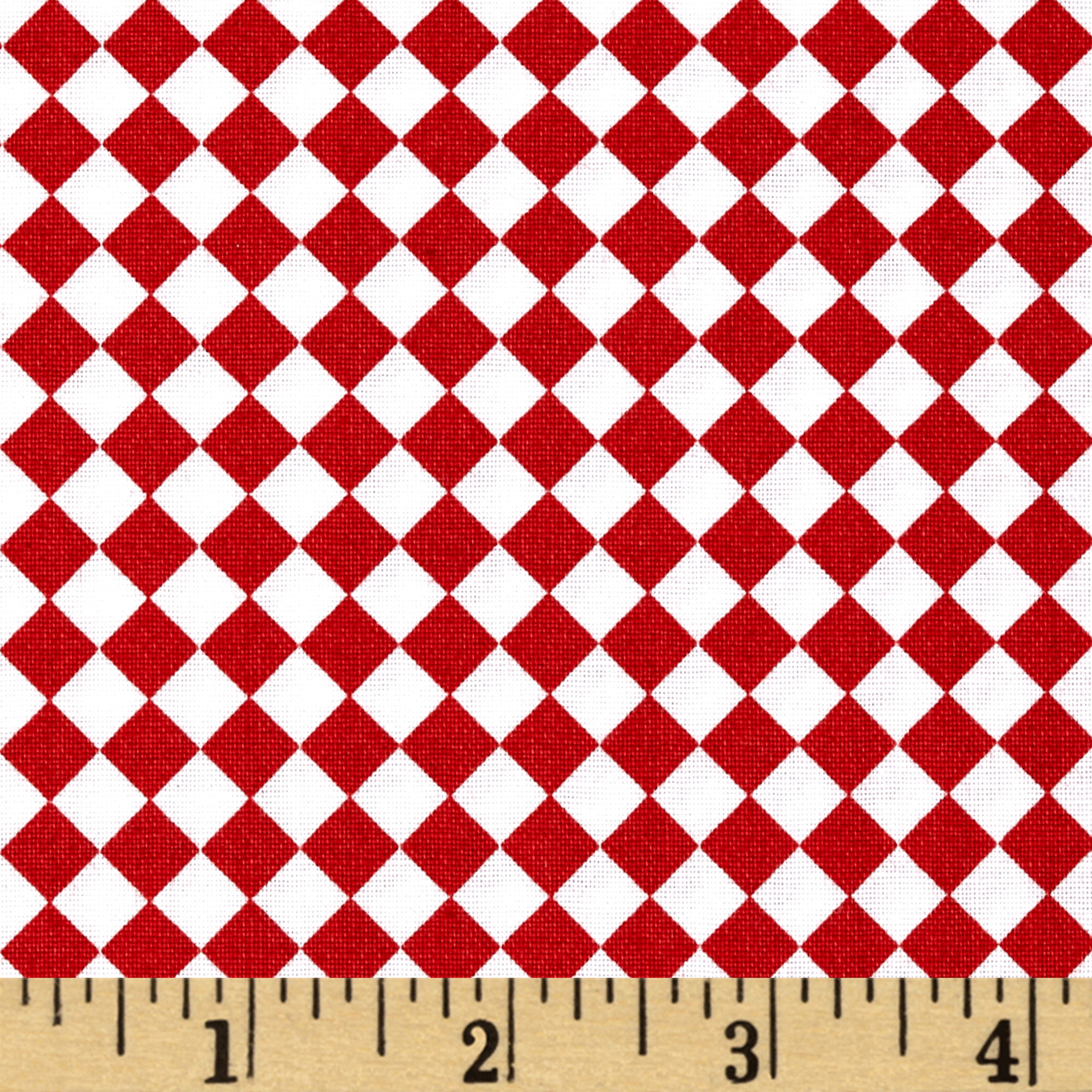 Farmer's Market Check Brick Fabric by Quilting Treasures in USA