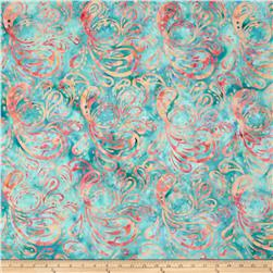 Bali Batiks Handpaints Paisley Blue Hawaiian