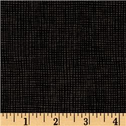 Moda Welcome Fall Burlap Weave Charcoal Black