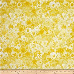 Walking on Sunshine Tonal Floral Yellow
