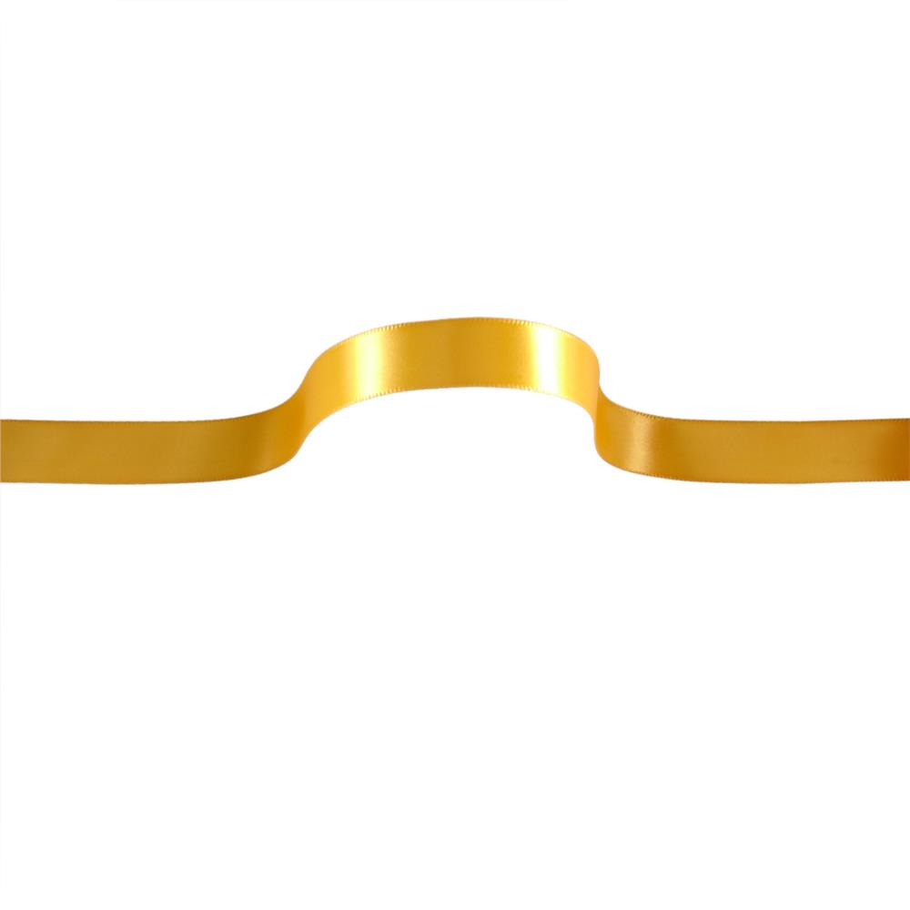 "5/8"" Offray Single Face Satin Ribbon Yellow Gold"