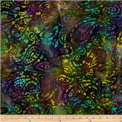 Indian Batik Seycheles Paisley Purple/Black/Green