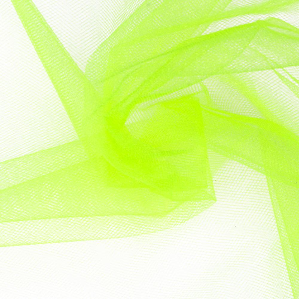 "108"" Wide Nylon Glimmer Tulle Neon Yellow"