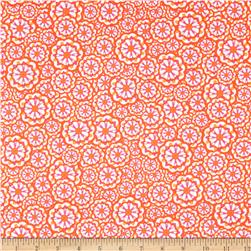 Kanvas Lili-fied Flower Power White/Orange Fabric