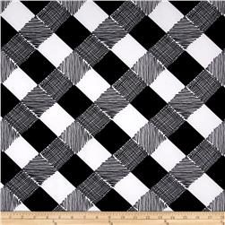 Techno Scuba Knit Checks Black/White