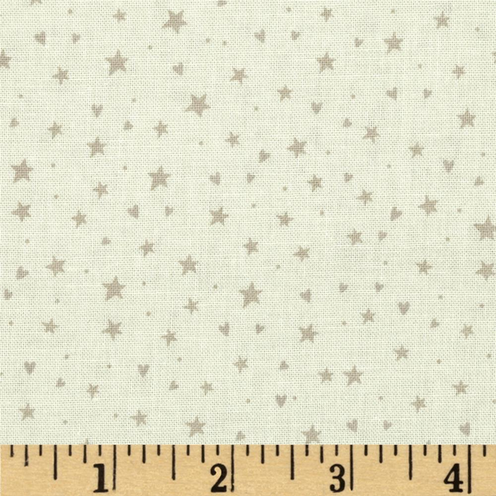 Winter Village Stars & Hearts Cream