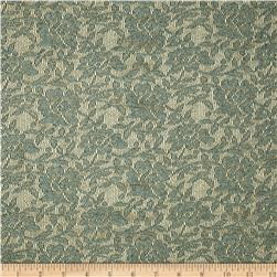 Floral Stretch Lace Dark Sage Fabric